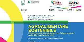 AGROALIMENTARE SOSTENIBILE PER EXPO 2015