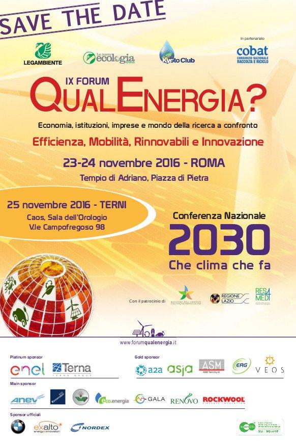 FORUM QUAL ENERGIA - 2030: CHE CLIMA CHE FA